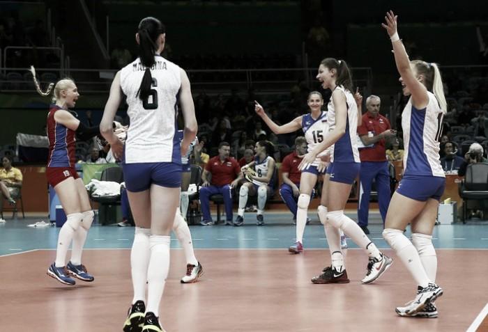 Rússia derrota Camarões e mantém invencibilidade no vôlei feminino