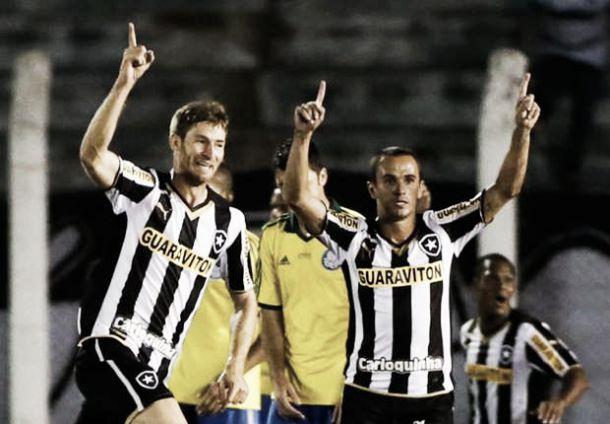 Em jogo equilibrado, Botafogo bate o Palmeiras fora de casa