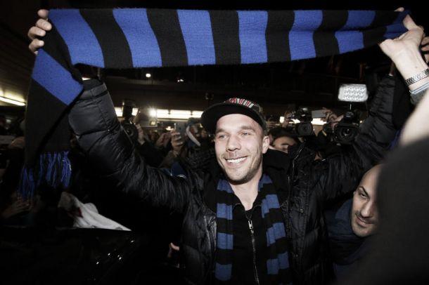 Lukas Podolski, primer refuerzo del Inter de Milán