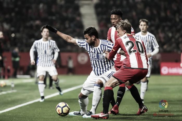 Willian José marca, mas Real Sociedad apenas empata com Girona