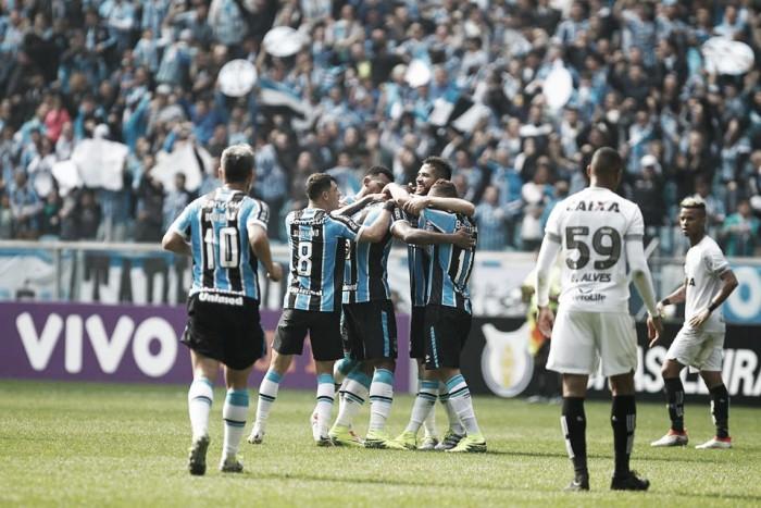 Bobô marca no fim, Grêmio vence Figueirense na Arena e mantém caça à liderança