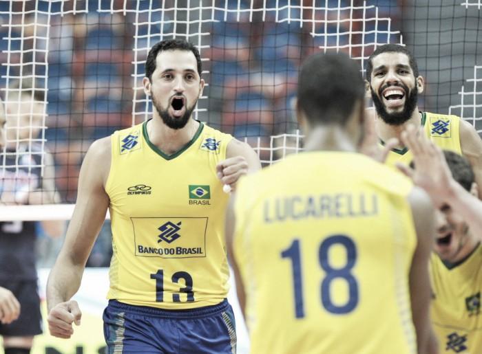 Brasil estreia em grande estilo e bate Itália na fase final da Liga Mundial