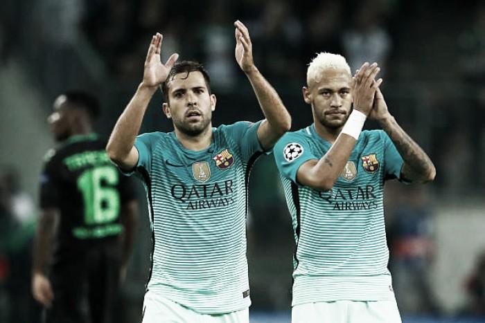 """Jordi Alba abre o jogo sobre saída de Neymar do Barcelona: """"Para mim foi muito melhor"""""""