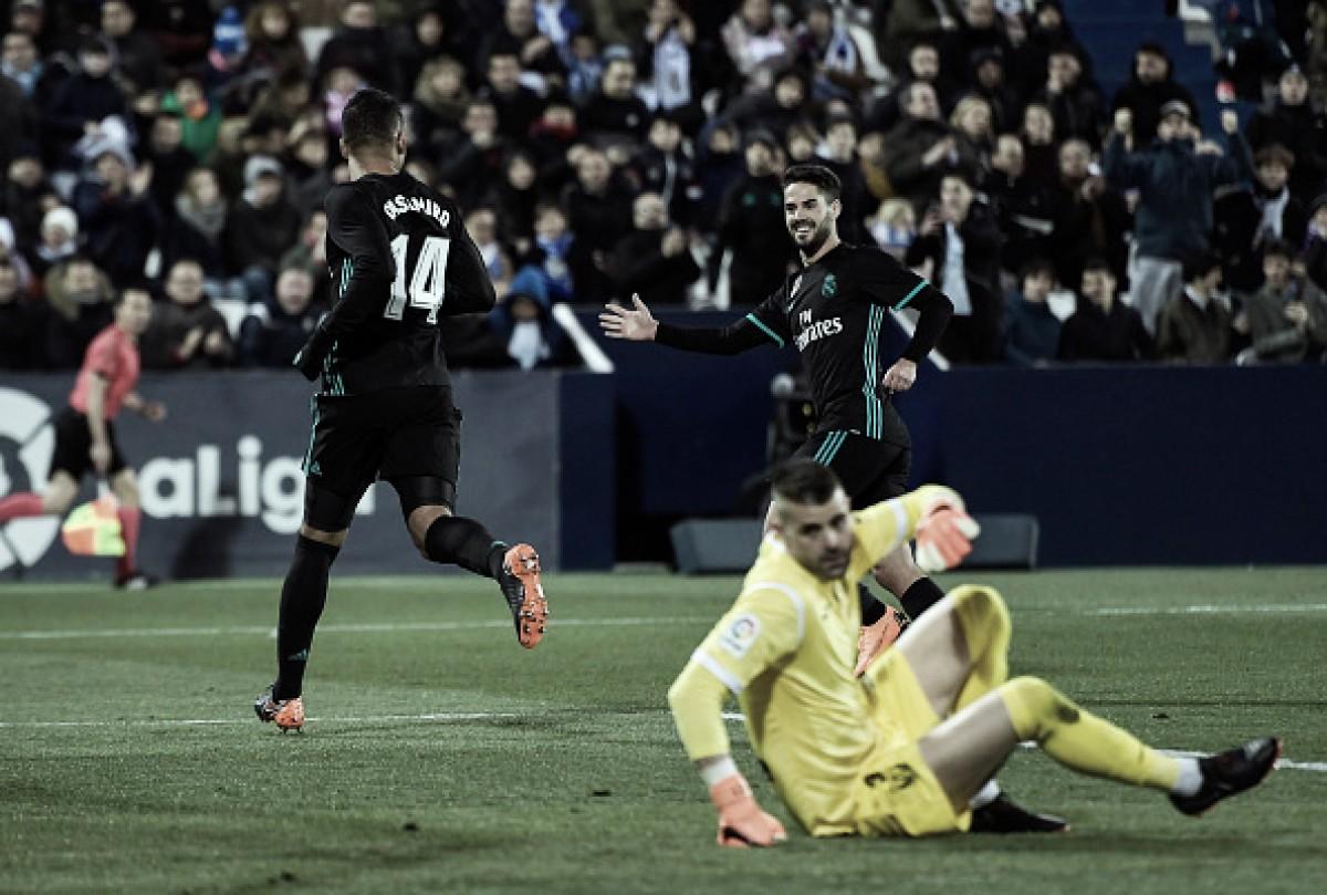 Real Madrid toma susto no início, mas derrota Leganés em jogo atrasado
