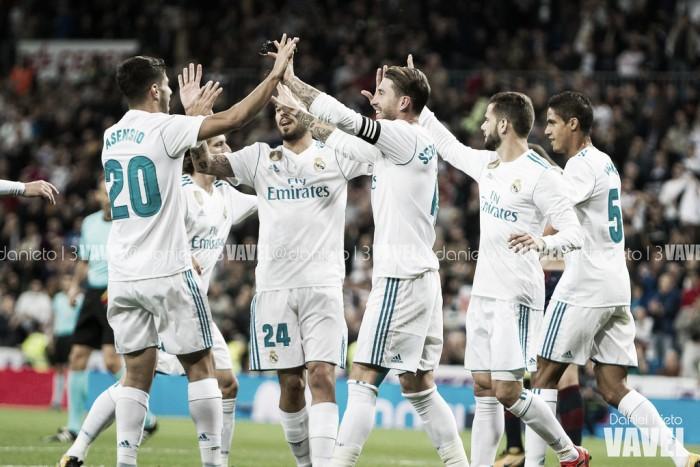 Real Madrid tenta manter perseguição aos líderes do Espanhol diante do Eibar