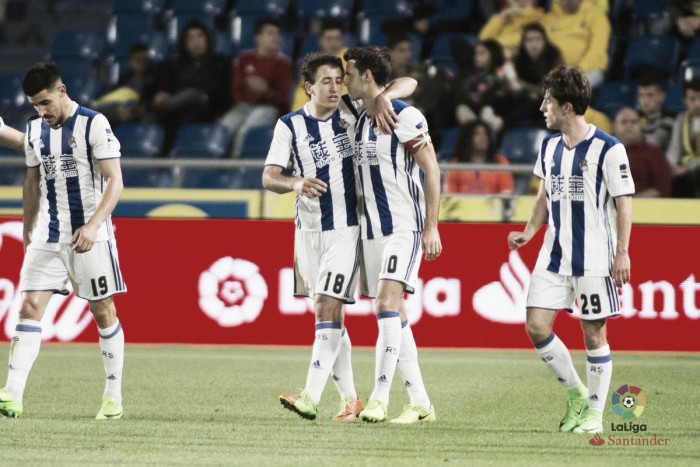 Rulli brilha e Real Sociedad bate Las Palmas em Gran Canaria