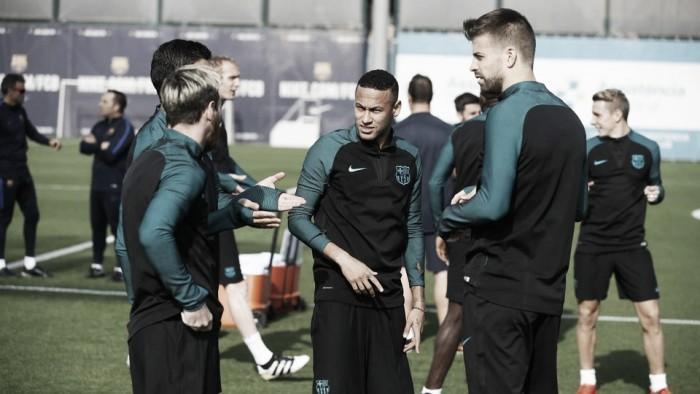 Último entrenamiento antes de recibir al Manchester City