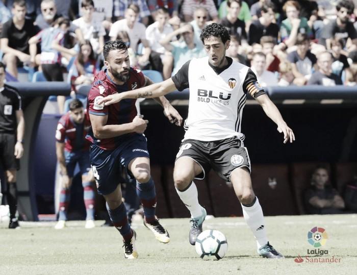 Valencia sai na frente, mas cede empate para Levante no dérbi