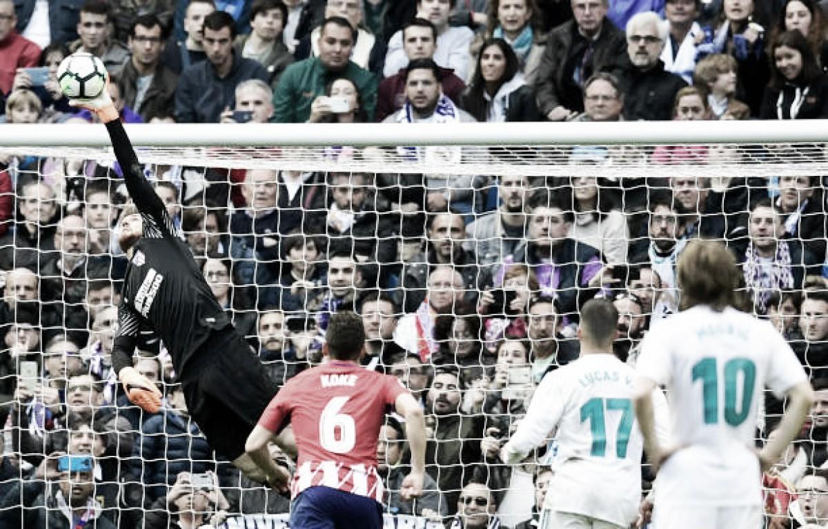 Oblak brilha e garante empate no dérbi entre Real Madrid e Atlético de Madrid