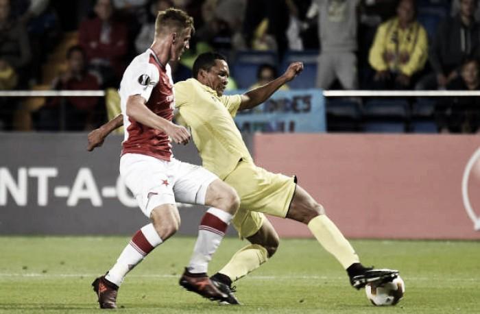 Villarreal sai atrás, mas busca empate contra Slavia Praga em casa