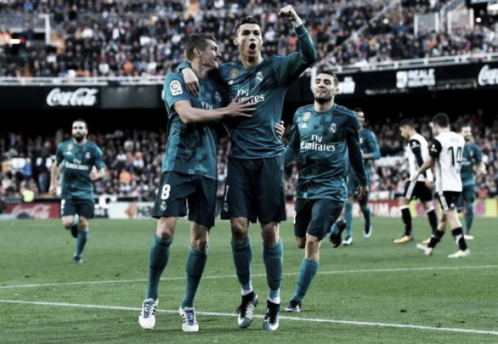 Cristiano Ronaldo marca dois, Real Madrid goleia Valencia fora de casa e quebra tabu