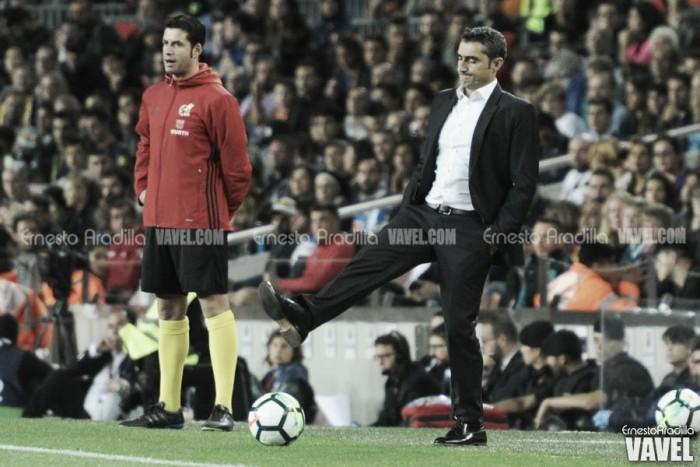 """Valverde elogia estreia de Dembélé e enaltece atuação de Messi: """"Extraordinário"""""""