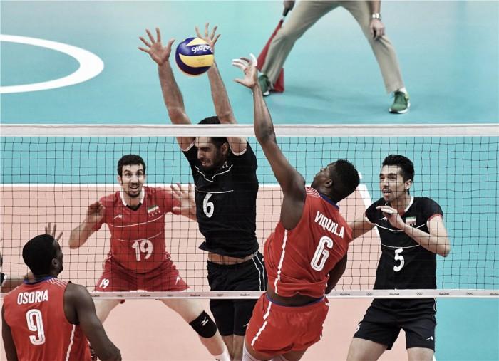 Irã vence Cuba no vôlei masculino e se aproxima dos líderes no Grupo B do Rio 16