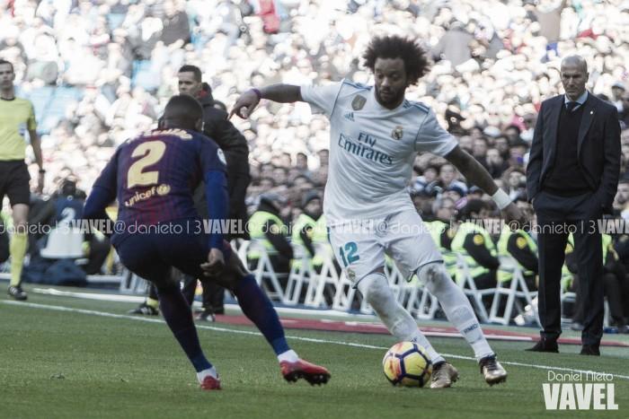 """Marcelo sai em defesa de Zidane após derrota no El Clásico: """"Vou até a morte com ele"""""""