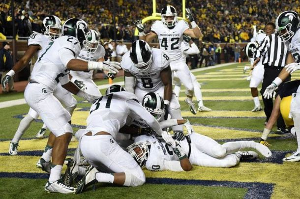 No. 7 Michigan State Pulls Off Miracle Win Against No. 12 Michigan On Botched Last Play