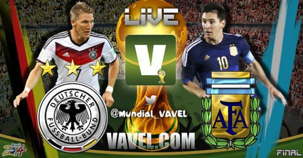 Live Germania - Argentina in finale Mondiali 2014