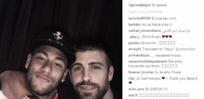 """Neymar revela 'incômodo' com foto postada por Piqué: """"Pedi para não publicar"""""""