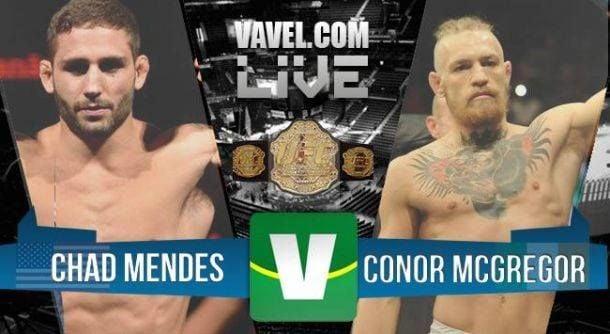 Results UFC 189: Chad Mendes - Conor McGregor 2015