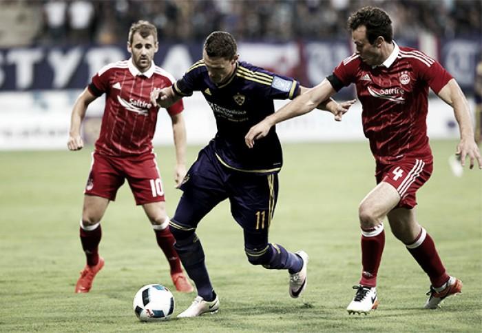 Maribor marca no fim contra Aberdeen e avança para a próxima fase da UEL