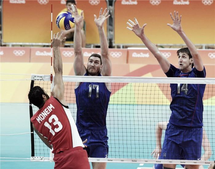Rússia se recupera de derrota para Argentina e bate Egito no vôlei masculino