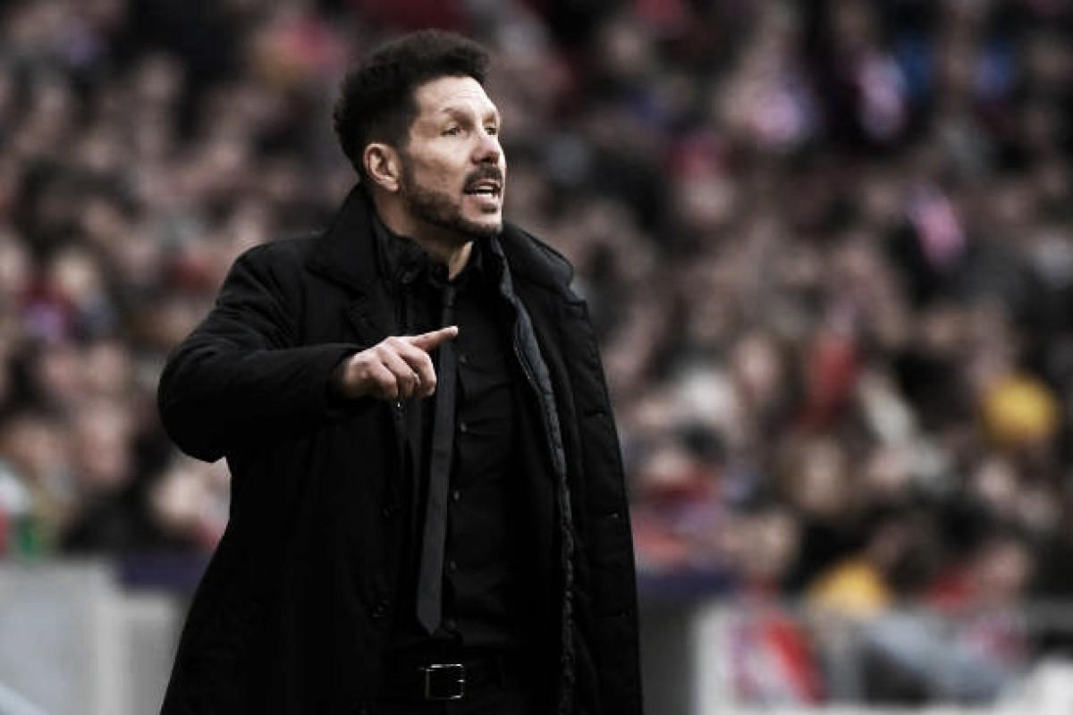 """Simeone vibra com vitória sobre Celta e fala da situação de Griezmann: """"Hoje ele está conosco"""""""