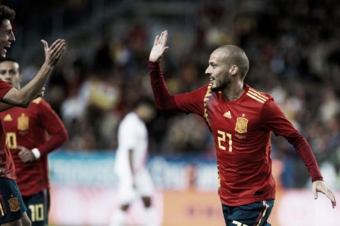 David Silva brilha e comanda goleada da Espanha sobre a Costa Rica