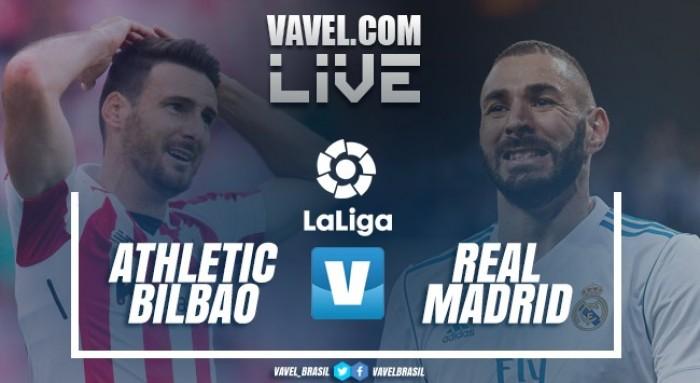 Resultado Athletic Bilbao x Real Madrid no Campeonato Espanhol 2017/18 (0-0)