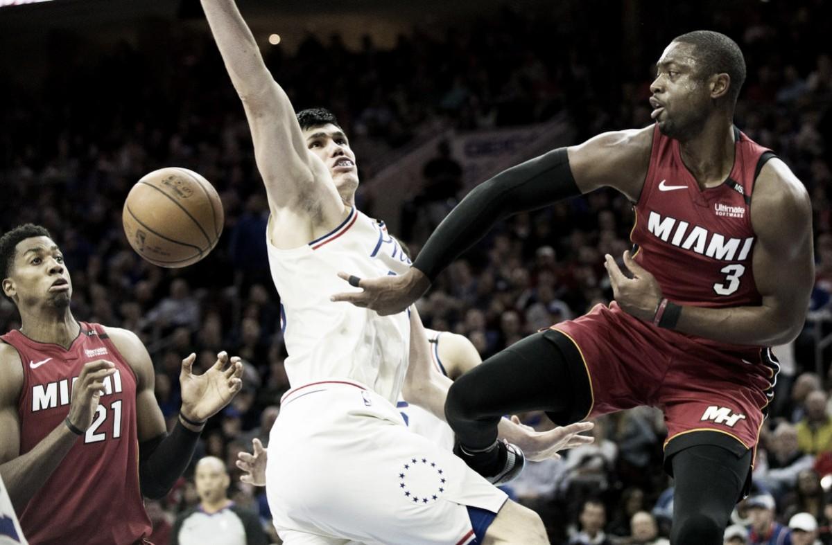 Com show de Wade, Heat 'rouba' mando de quadra dos Sixers e empata a série