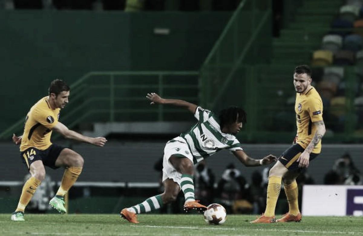 Sporting joga melhor, vence, mas Atlético de Madrid garante vaga nas semifinais da Europa League