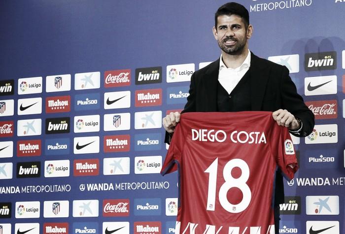 """Apresentado, Diego Costa agradece esforço do Atlético para repatriá-lo: """"Esperei muito tempo"""""""
