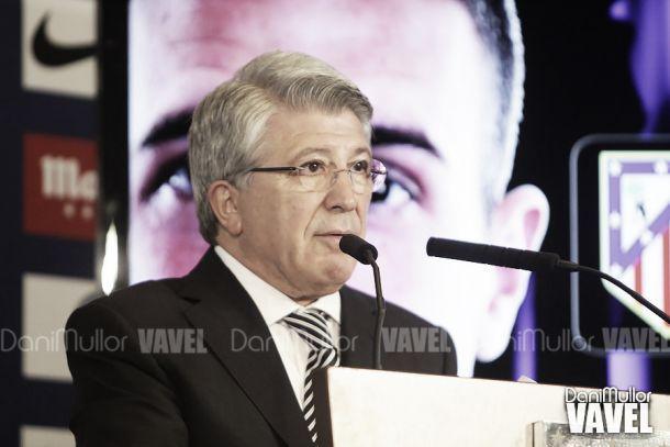 Presidente do Atlético optimista para o «derby» Atlético x Real Madrid