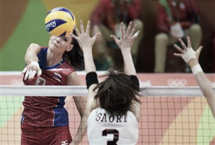 Rússia passa com tranquilidade pelo Japão e lidera grupo A do vôlei feminino