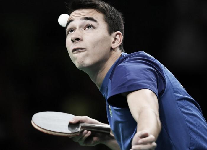 Tênis de Mesa: com soberania, Hugo Calderano vence Andy Pereira na primeira rodada