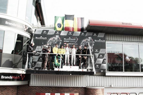 Valdeno Brito e Átila Abreu faturam dois pódios no Blancpain Sprint Series em Brands Hatch