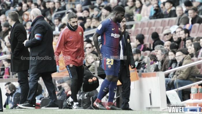 Umtiti sofre lesão na coxa direita e desfalcará Barcelona por até dois meses
