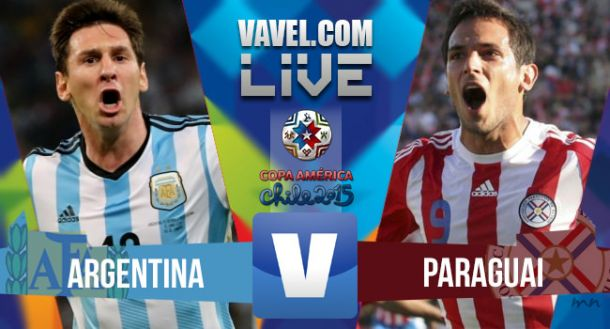 Argentina vs Paraguay Live Score Stream of 2015 Copa America Semi-Finals (0-0)