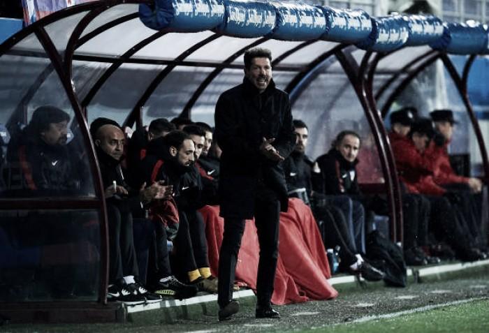 """Simeone valoriza triunfo contra Eibar: """"Foi uma vitória importante contra um adversário difícil"""""""