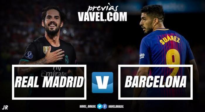 Sem CR7 e com ótima vantagem, Real Madrid recebe Barça no jogo de volta da Supercopa da Espanha