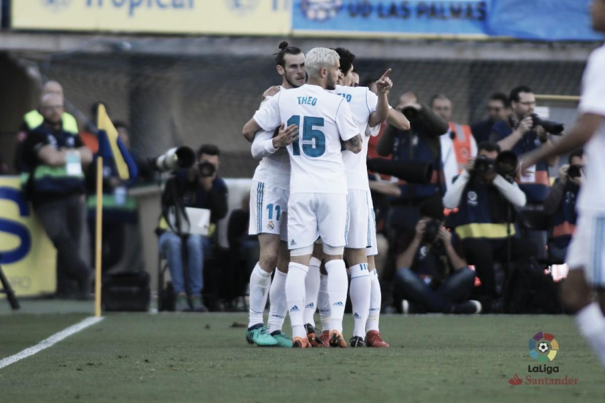 Bale brilha, e mistão do Real Madrid vence desesperado Las Palmas