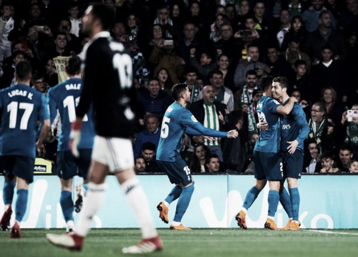 Real Madrid faz grande segundo tempo e supera Betis em jogo de oito gols