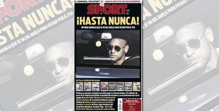 Venda de Neymar ao PSG tem repercussão negativa nos jornais espanhois