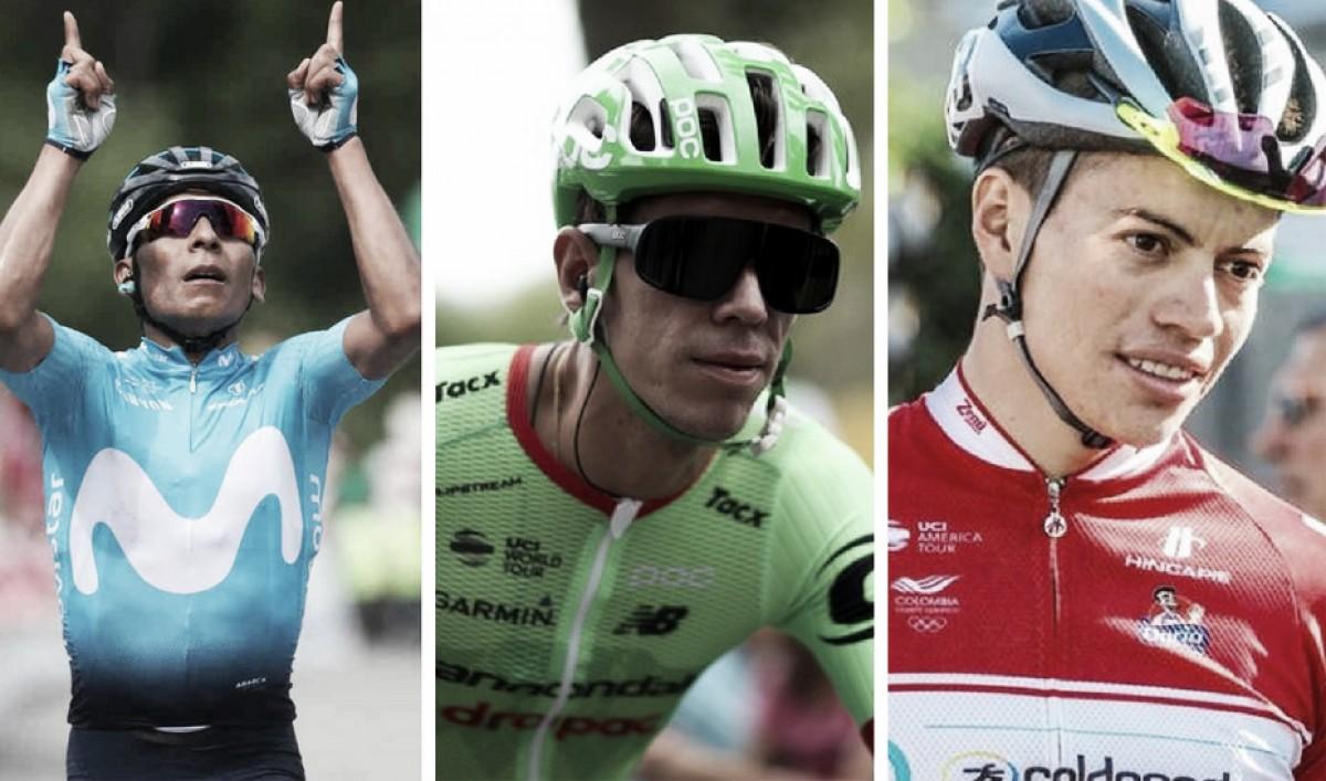 Triplete de victorias, día glorioso para el ciclismo colombiano