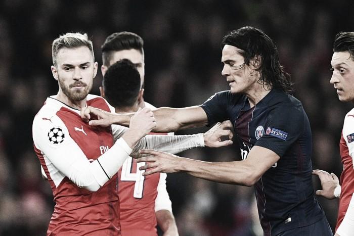 """Após empate na UCL, Ramsey minimiza incidente com Cavani: """"Não foi nada"""""""