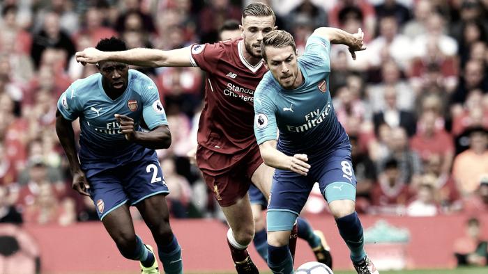 Ramsey pede desculpas à torcida do Arsenal após atropelo do Liverpool
