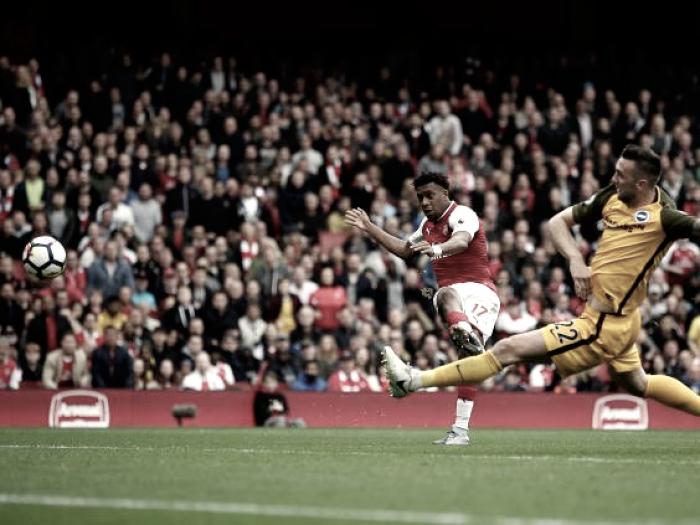 """Wenger elogia Iwobi, que marcou na vitória sobre Brighton: """"O que espero dele são gols"""""""