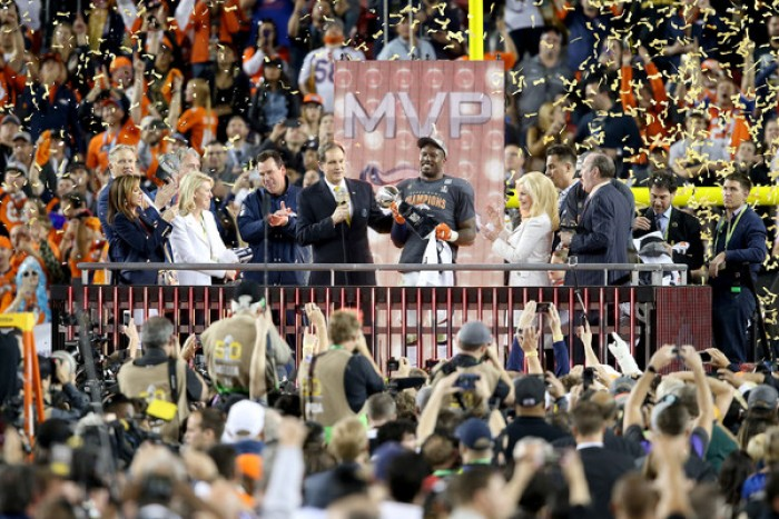 Denver Broncos Linebacker Von Miller Named Most Valuable Player Of Super Bowl 50