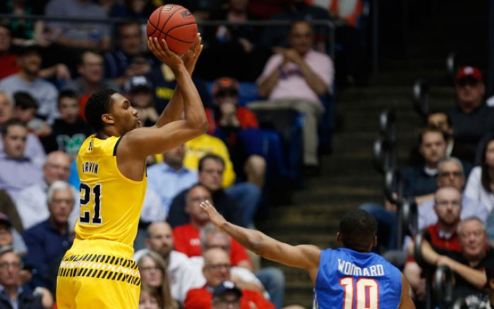 2016 NCAA Tournament First Four: No. 11 Michigan Wolverines Beat No. 11 Tulsa Golden Hurricane, 67-62