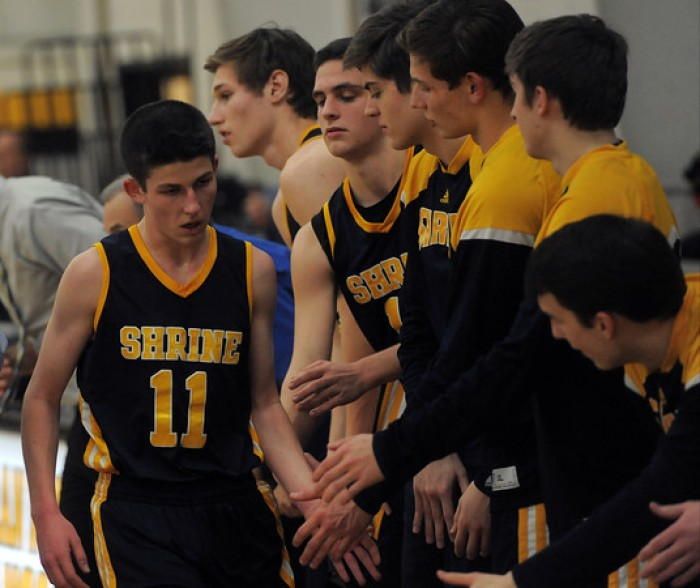 Shrine Knights Top Lutheran North Mustangs, 56-46