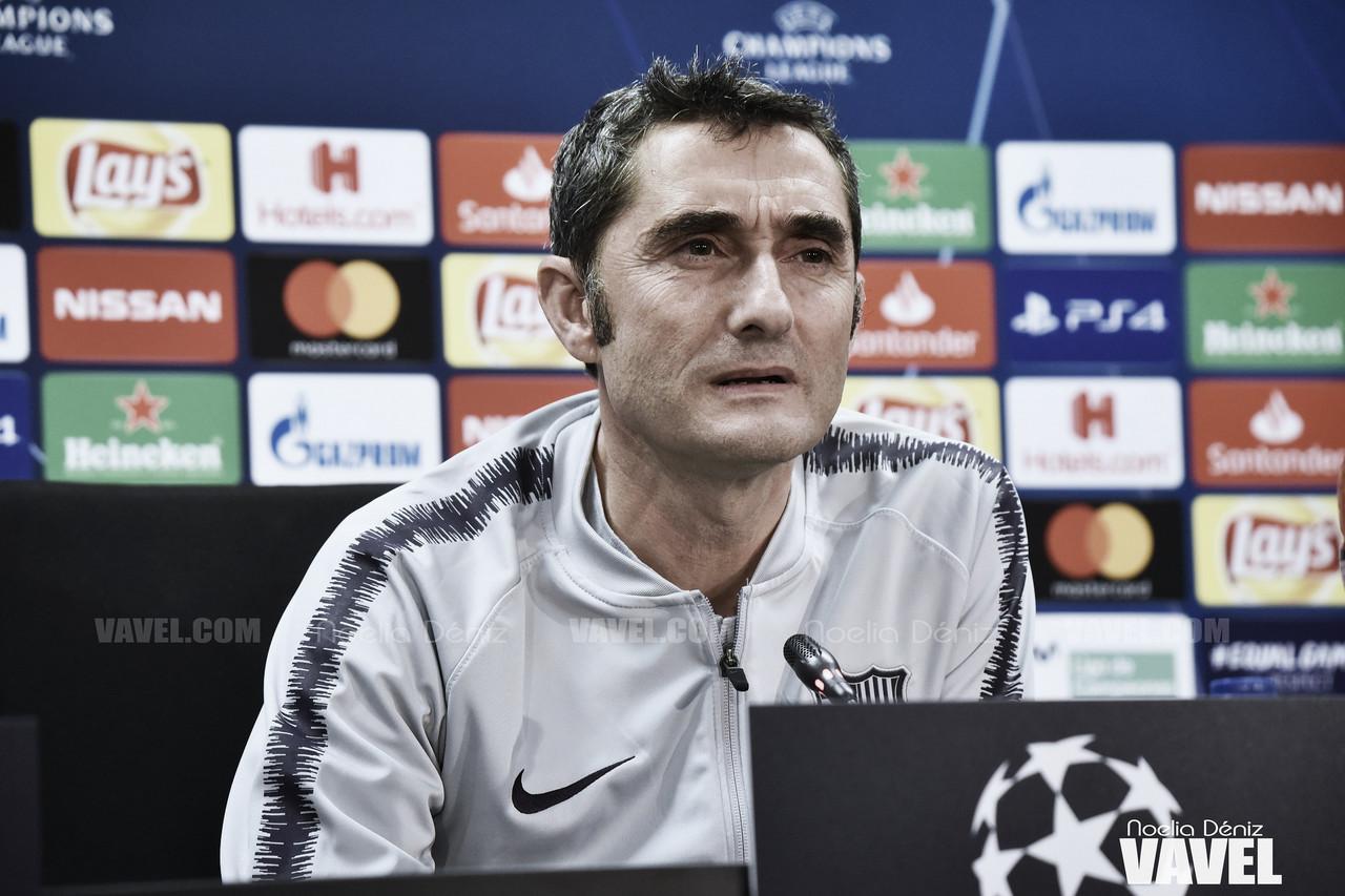 """Ernesto Valverde: """"Estamos contentos con Griezmann"""""""