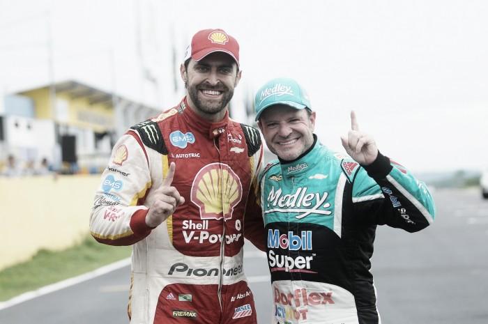 Rubens Barrichello e Átila Abreu vencem em Goiânia pela Stock Car